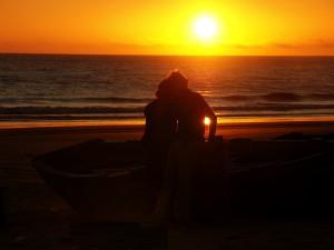 Am einsamen Strand von Immioudar