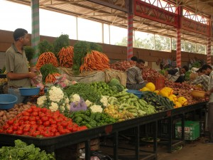 Der bunte Gemüsesouk von Agadir