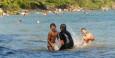 Am Wochenende ist die Lagune von Nicas gut besucht.