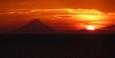 Sonnenuntergang am Nicaraguasee mit Vulkan Concepción im Hintergrund